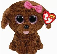 "TY Beanie Babies Boo's Maddie Dog 6"" Stuffed Collectible Plush Toy NEW"