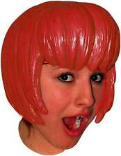 Anime Red Bob Latex Wig Fancy Dress Cosplay