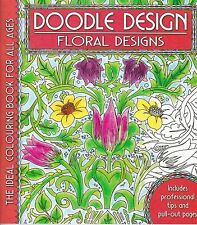 Floral - Flowers Adult Colouring Book - Doodle Design - Art Therapy
