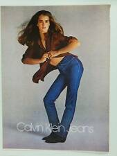 1980 Calvin Klein Jeans Women's Clothing Vintage Magazine Ad Page Brooke Shields