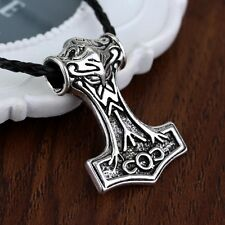 "20"" Stainless Steel Viking Mjölnir Thor's Hammer Pendant Necklace on chain"