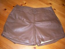 WOMENS CHOCOLATE TAN SHORTS BRAND NEW +TAGS SIZE 12 F&F