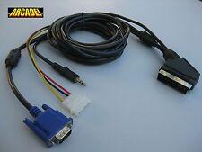 Cable VGA RGB ARCADEVGA A SCART CON JACK SONIDO ( EUROCONECTOR ) JAMMA ARCADE