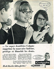 PUBLICITE ADVERTISING  1962   COLGATE  dentifrice supprime la mauvaise haleine