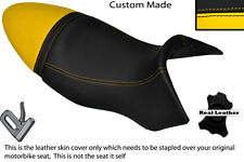 BLACK & YELLOW CUSTOM FITS BUELL XB9S LIGHTNING 04-09 DUAL SEAT COVER