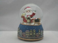 Precious Moments Santa In Sleigh Musical Water Globe NIB