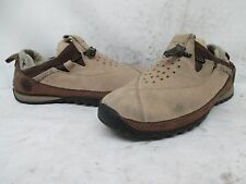"""Timberland Beige/Brown Suede Slip On Loafers with """"Smartwool"""" Lining Size 8.5 W"""