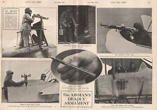 1915 WW1 THE AIRMAN'S DEADLY ARMAMENT, 6 IMAGES ON DOUBLE PAGE
