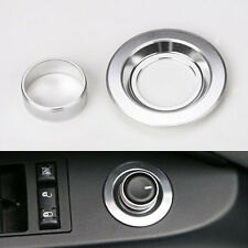 Silver Power Mirror Switch Side View Button Knob Cover For Patriot Compass 11+