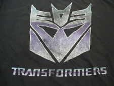 Transformers Autobots vs. Decepticons Animated TV Show Movie Black T Shirt 5XL