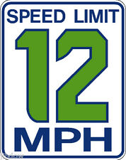 Seahawk 12th Man Speed Limit Sign
