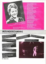 GENESIS / ROBERT PALMER Llyrics magazine PHOTO/Poster/clipping 11x8 inches