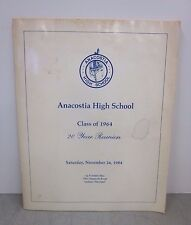 Anacostia High School Class of 1964 20 Year Reunion Booklet 1984 Washington, DC