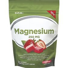 GNC Magnesium 250mg Strawberry 60 chews