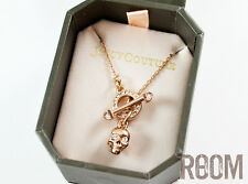 Juicy Couture rosegold skull toggle necklace