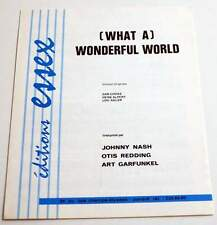 Rare partition sheet music OTIS REDDING / SAM COOKE : Wonderful World * 60's