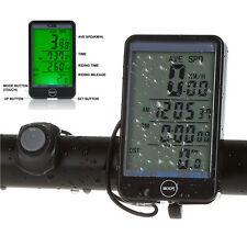 Waterproof Wireless LCD Bike Computer Speedo Odometer Speedometer Cycle Bicycle