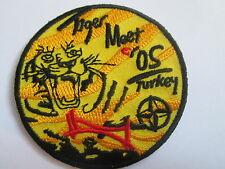 Tiger Meet Turkey Embroidered Patch - Iron or Sew on - 65mm- P128