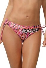 LA BLANCA PERFECT PATCH LOOP SIDE BIKINI SWIM BOTTOMS PANTS MULTI SIZE 6 NEW $55