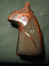 Smith Wesson K/L Frame Rosewood Grips Chk/Stippled Round-Butt Target CONVERSION
