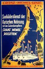 Cranz - Memel - Linie Blechschild Schild Blech Metall Metal Tin Sign 20 x 30 cm