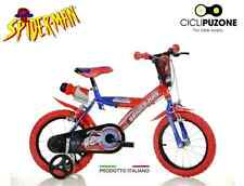 "BICI BIMBO SPIDERMAN 16"" BICICLETTA BAMBINO DINO BIKES MADE IN ITALY ORIGINALE"
