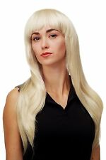 Women's Wig Sexy Glamour Diva Platinum blonde long smooth Fringe DW1127-613