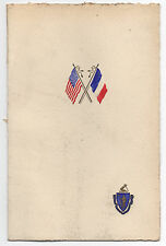 1928 Invitation to Dinner given by Governor of Mass for French Dignitaries