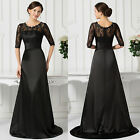 New Vintage Lace Formal Mother of the Bride Wedding Dress Prom Evening Gown Long