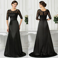 VINTAGE 50s Masquerade Ball Gown Long Prom Black Sexy Evening Party Formal Dress