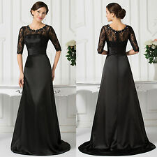 Grace Karin Black Evening Prom Party Dress Cocktail Formal Gowns Banquet Size16