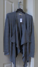NWT Hollister By Abercrombie Gray  County Drapey Cardigan Sweater  1 Size Fits A