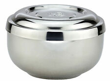 Stainless Steel Double Bowl Bowl With Lid Lidded bowl bowl cute Korean rice bowl