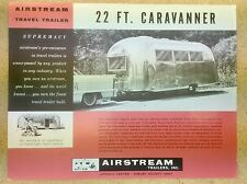"Original 1950s VINTAGE AIRSTREAM TRAVEL TRAILER Camper BROCHURE ""CARAVANNER"""