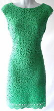 Ralph Lauren crochet cap sleeves knee lenght cocktail event wedding dress sz 16P