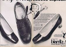 Publicité Advertising 096 1967 Belbis  Biarritz chaussures Corfam (2 pages)
