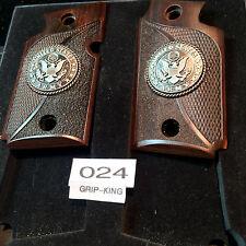 SIG SAUER P 938 GRIPS,DARK WALNUT WOOD,U.S. ARMY MEDALLIONS,  ITEM #024