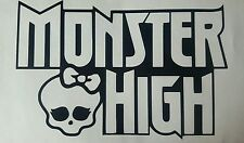"Monster high vinyle autocollant large 6"" aussi disponible en blanc voitures motos vans"