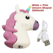 Emoji Unicorn 2600mAh Portable Charger External Battery Power Bank Charger Power