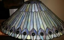 Vintage Quiozel Tiffany Reproduction Stained Glass Chandelier