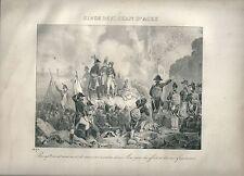 1827 SIÈGE DES SAINT JEAN D'ACRE Madou Napoleone Napoleon San Giovanni Acri Acre