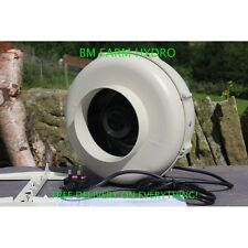 "6"" High Power Inline Pro Fan 150 mm 630m3 Hydroponics Ventilation Grow Room"