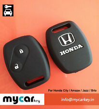 Honda Black Silicone Car Key Cover for City, Civic, Amaze, Jazz & Brio