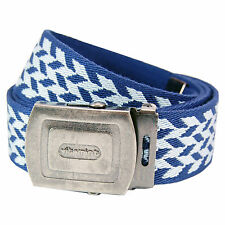 Pattern Belt - Blue And Sky Blue Cool Retro Fashion Design