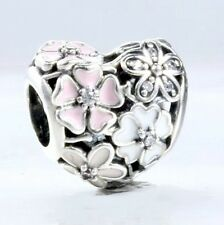 BLOOMS for Poetry & Romance  .925 Sterling Silver European Charm Bead