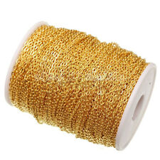 2/5/100Meter Silver/Gold Plated Cable Open Link Iron Metal Chain Findings 3x4MM