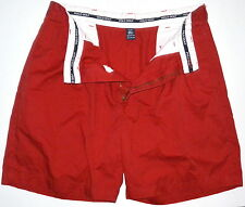 Mens 35 Polo Golf Classic Golf Shorts Red Cotton