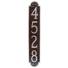 Rockford Column Vertical Address Plaque House Sign Numbers wall Custom