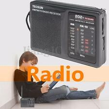 TECSUN R-202T Portable AM FM TV Sound World Band Radio Receiver Speaker Player