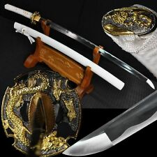 Hand Forged Japan Samurai Sword Katana 1095 Carbon Steel Sharp Blade Alloy Tsuba